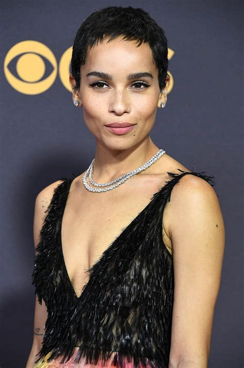 Zoe Kravitz in a Dior Couture dress at 2017 Emmys