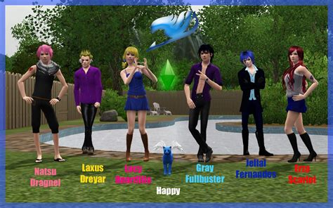 NG Sims 3: Jellal Fernandes - Fairy Tail Anime Sims