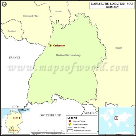 Where is Karlsruhe | Location of Karlsruhe in Germany Map
