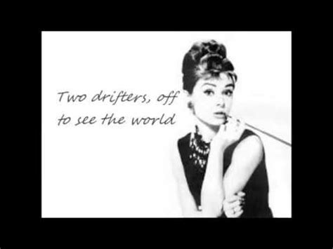 Audrey Hepburn -Moon River (lyrics) - YouTube