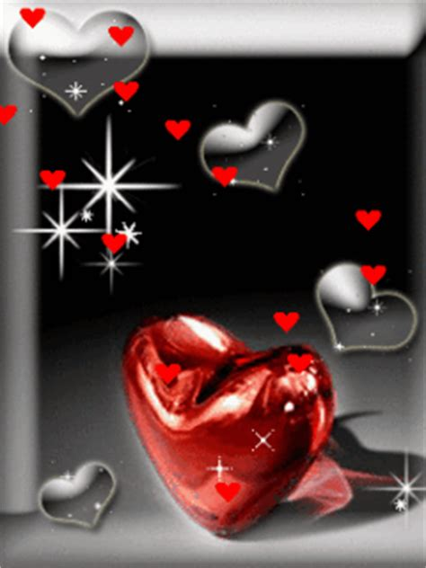 Download Beautiful Red Hearts And Shining Wallpaper Mobile