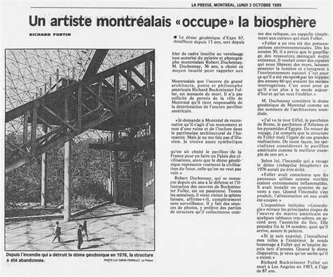 """""""Occupation of the Buckminster Fuller Geodesic Dome"""