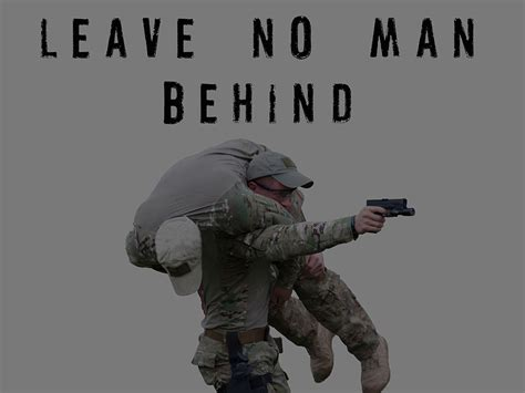 """Military Motivation Poster """"Leave No Man Behind"""" Version 1"""