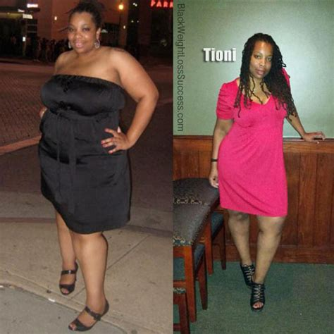 Tioni lost 70 pounds   Black Weight Loss Success