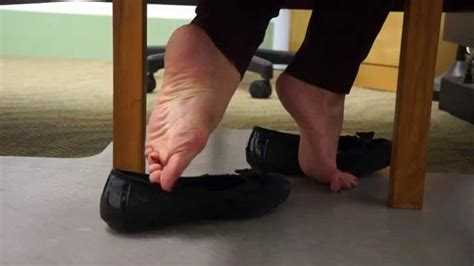 Shoeplay in Worn Flats, Under My Desk - YouTube