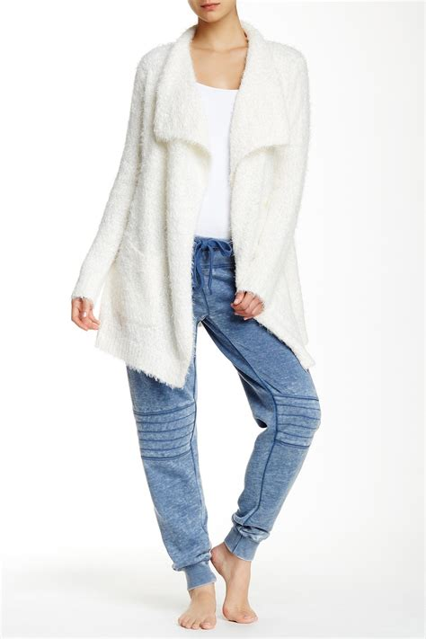 Lyst - Pj Salvage Boucle Knit Cardigan in White