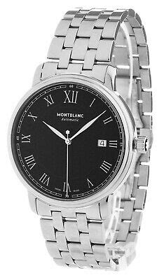 Montblanc Tradition Date Sapphire Crystal Black Dial