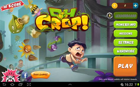 Oh Crop! Free Game For Android with Bitcoin Rewards