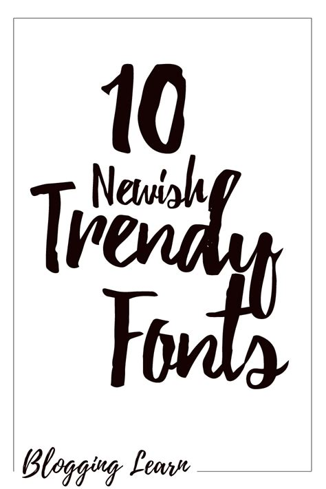10 Newish Trendy Commercial Free Fonts | Blogging As I