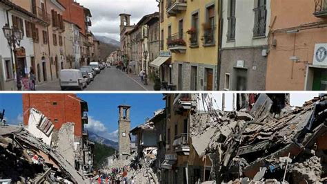 Italy earthquake: before and after | Euronews