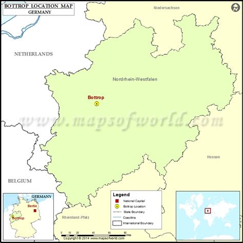 Where is Bottrop | Location of Bottrop in Germany Map