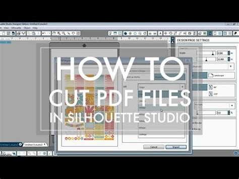 How to Cut PDF File in Silhouette Studio // Basic Edition