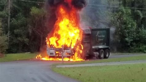 Garbage truck catches fire on Milton Bryan Road | News