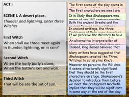 Macbeth: Annotated Act One | Teaching Resources