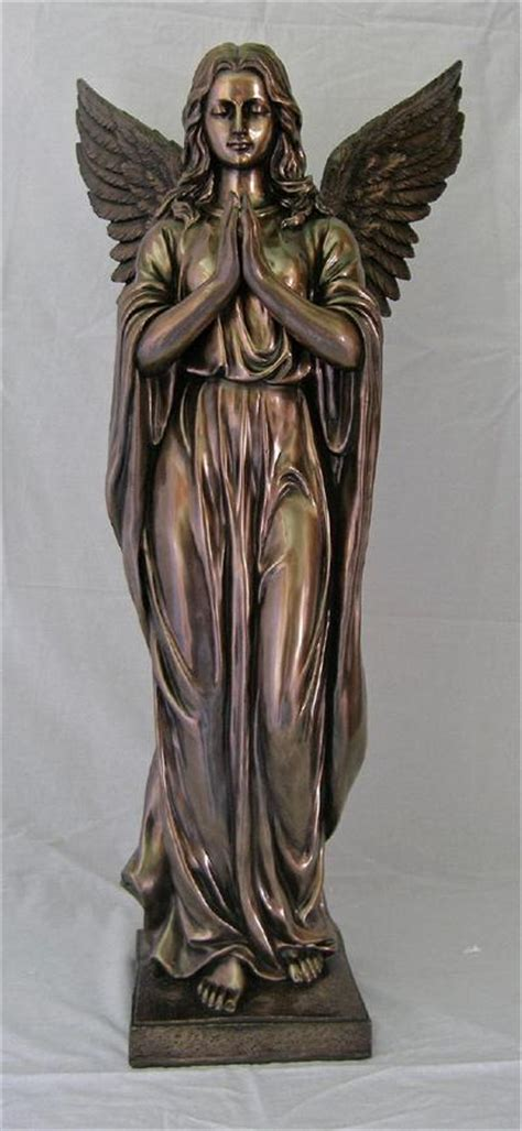 "38"" Cold Cast Bronzed Resin, Praying Angel Statue, # 99402"