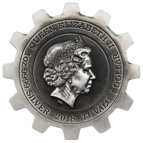 Evolution of Industry 2018 1oz Silver Gear-Shaped Two-Coin