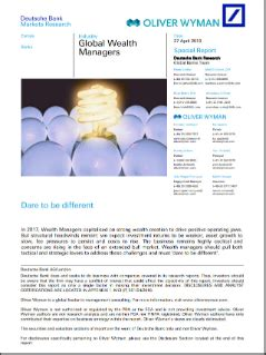Global Wealth Managers – Dare To Be Different