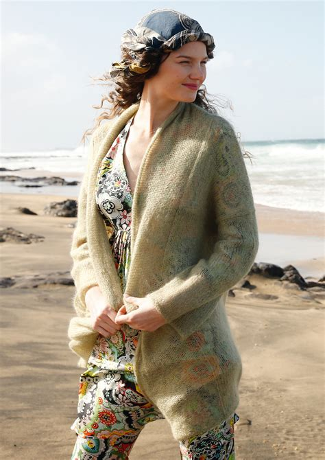 Knit pattern – Loose-fitting mohair cardigan   Rebecca