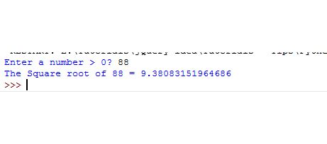 3 Examples of Python square root (SQRT) function of Math