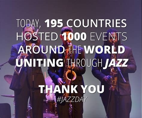 As the big #JazzDay finale sponsored by