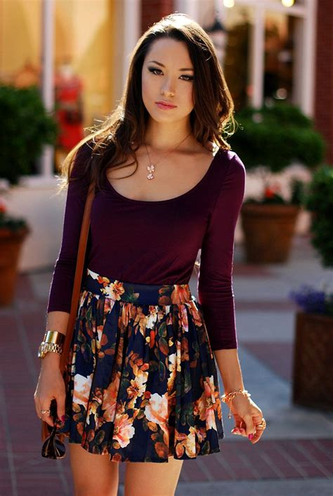 Cute Skater Skirts Outfits -20 Ways to Wear Skater Skirts